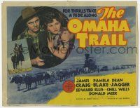 5w336 OMAHA TRAIL TC '42 cowboy James Craig, sexy Pamela Blake, take a ride for thrills!