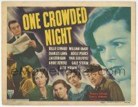 5w338 ONE CROWDED NIGHT TC '40 cool montage of entire cast including 18 year-old Gale Storm!