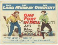 5w340 ONE FOOT IN HELL TC '60 Alan Ladd, Don Murray, Hell came to town wearing a badge!