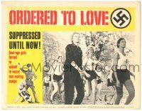 5w814 ORDERED TO LOVE LC #1 '63 WWII, teenage girls forced to submit in secret Nazi mating camps!