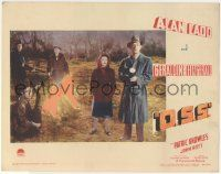 5w810 O.S.S. LC '46 Geraldine Fitzgerald standing by Alan Ladd with flashlight outdoors!