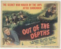 5w343 OUT OF THE DEPTHS TC '45 the secret war waged by the Japs after surrender in World War II!