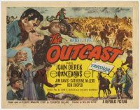 5w345 OUTCAST TC '54 John Derek, Joan Evans, reckless violence & love in the West!