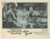 5w815 PARIS BLUES LC #5 '61 Paul Newman on bed stares at Joanne Woodward drinking coffee!