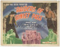 5w359 RAIDERS OF SUNSET PASS TC '43 cowboy Eddie Dew, Smiley Burnette & Jennifer Holt!