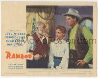 5w832 RAMROD LC #8 '47 great 3-shot of Joel McCrea, sexy Veronica Lake & Charlie Ruggles!