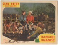 5w833 RANCHO GRANDE LC R45 Gene Autry & Smiley Burnette stare at each other by teens helping guy!