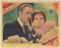 5w838 RENDEZVOUS LC '35 Rosalind Russell listens to William Powell make a date with a Russian spy!
