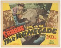 5w363 RENEGADE TC '43 Buster Crabbe as outlaw Billy the Kid with Fuzzy St. John!
