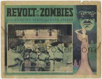 5w841 REVOLT OF THE ZOMBIES LC '36 soldiers with rifles take aim, see-through border art, rare!