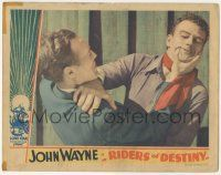5w844 RIDERS OF DESTINY LC '33 great close up of big John Wayne in death struggle, super rare!
