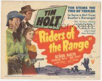 5w366 RIDERS OF THE RANGE TC '49 Tim Holt stems the tide of terror to save a girl from a rustler!