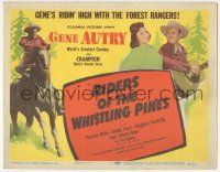 5w367 RIDERS OF THE WHISTLING PINES TC '49 Gene Autry plays guitar for Patricia White, Champion!