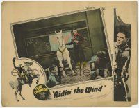 5w846 RIDIN' THE WIND LC '25 great image of Fred Thomson teaching class w/Silver King w/glasses!