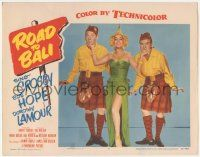 5w847 ROAD TO BALI LC #7 '52 best image of sexy Dorothy Lamour between Bing Crosby & Bob Hope!