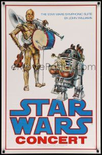 6a001 STAR WARS CONCERT 24x37 poster + letter '78 ultra rare poster given to employee by Lucas!