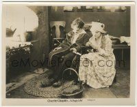 6d023 DOG'S LIFE 8x10.25 still R20s Edna Purviance knitting by Charlie Chaplin asleep in chair!