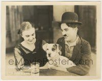6d004 DOG'S LIFE 8x10 LC '18 c/u of Charlie Chaplin telling Edna Purviance she will love his dog!