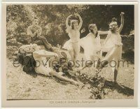 6d018 SUNNYSIDE 8x10.25 still R27 leering Charlie Chaplin as Pan playing pipe for dancing nymphs!