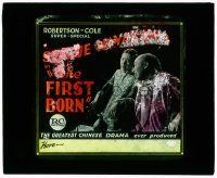 6d054 FIRST BORN glass slide '21 Sessue Hayakawa & Helen Jerome Eddy in the greatest Chinese drama!