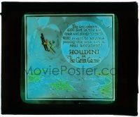 6d035 GRIM GAME glass slide '19 Harry Houdini, aeroplanes crash & plunge from 4,000 ft in the air!