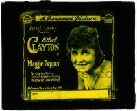 6d076 MAGGIE PEPPER glass slide '19 salesgirl Ethel Clayton overcomes obstacles & succeeds!