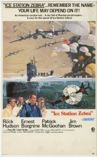 6d029 ICE STATION ZEBRA Cinerama mini WC '69 Rock Hudson, Jim Brown, Borgnine, McCall/Terpning art!
