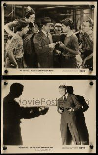 6m952 ANGELS WITH DIRTY FACES 2 8x10 stills R56 great images of James Cagney, Dead End Kids!