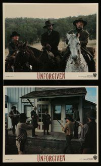 6m593 UNFORGIVEN 2 8x10 mini LCs '92 Clint Eastwood, Freeman, Gene Hackman, Harris, top cast!