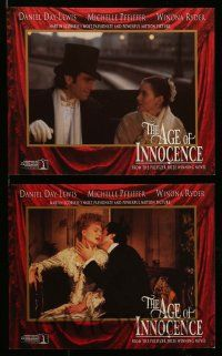 6m521 AGE OF INNOCENCE 8 8x10 mini LCs '93 Martin Scorsese, Daniel Day-Lewis & Michelle Pfeiffer!