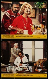 6m534 END 8 8x10 mini LCs '78 great images of wacky Burt Reynolds & Dom DeLuise!