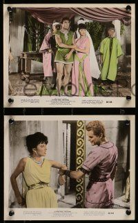 6m575 ESTHER & THE KING 4 color 8x10 stills '60 Mario Bava & Walsh Biblical epic, sexy Joan Collins