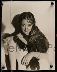 6m964 HEATHER ANGEL 2 7.25x9.5 stills '34 wonderful portrait images of the star, one with a monkey!