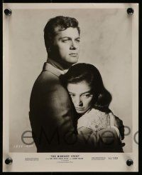 6m976 MIDNIGHT STORY 2 8x10 stills '57 Tony Curtis with sexiest Marisa Pavan and Peggy Maley!