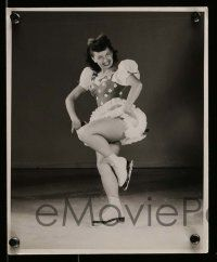 6m906 MONTEL PHILLIPS 4 8x10 stills '51 images of the skater from The Ice Follies of 1951!