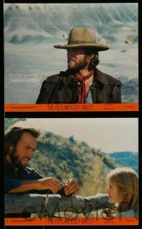 6m544 OUTLAW JOSEY WALES 8 8x10 mini LCs '76 Clint Eastwood w/ sexy Sandra Locke, Chief Dan George!