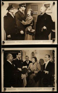 6m744 PRACTICALLY YOURS 9 8x10 stills '44 Claudette Colbert, Air Force pilot Fred MacMurray!