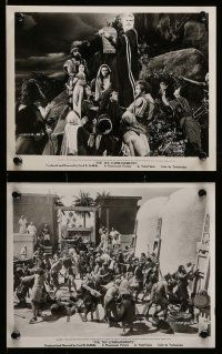 6m845 TEN COMMANDMENTS 6 8x10 stills '56 Cecil B. DeMille, Charlton Heston, De Carlo, Paget!