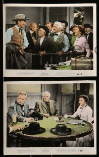 6m564 TEXAS LADY 6 color 8x10 stills '55 Claudette Colbert, Barry Sullivan, western images!