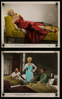 6m589 THREE FOR THE SHOW 3 color 8x10 stills '54 sexy Betty Grable, one full-length in red dress!
