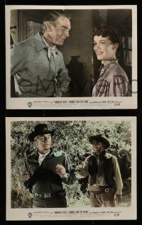 6m569 THUNDER OVER THE PLAINS 5 color 8x10 stills '53 cowboy Randolph Scott hits like a tornado!