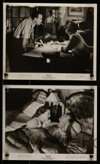 6m846 TIMETABLE 6 8x10 stills '56 Mark Stevens, Felicia Farr, deadly minutes, murderous seconds