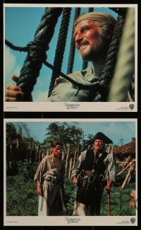 6m570 TREASURE ISLAND 5 8x10 mini LCs '90 Heston as Long John Silver, 16 year-old Christian Bale!