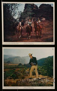 6m558 TREASURE OF PANCHO VILLA 7 color 8x10 stills '56 Rory Calhoun, Shelley Winters & Roland!