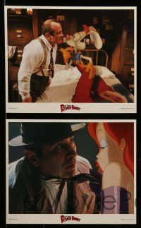 6m550 WHO FRAMED ROGER RABBIT 8 8x10 mini LCs '88 Robert Zemeckis, Bob Hoskins, sexy Jessica Rabbit