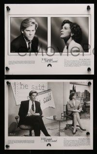 6m310 HE SAID SHE SAID presskit w/ 8 stills '91 Kevin Bacon, Perkins, a story of true love!