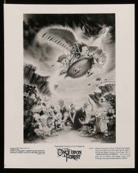 6m262 ONCE UPON A FOREST presskit w/ 9 stills '93 cool Steven Chorney cartoon art of creatures!