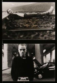 6m227 TRAINSPOTTING soundtrack English presskit w/ 10 stills '96 addict Ewan McGregor, Danny Boyle!