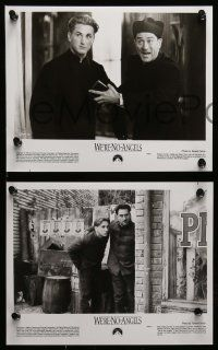 6m077 WE'RE NO ANGELS presskit w/ 15 stills '89 fake priests Robert De Niro & Sean Penn, Moore!