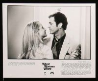 6m275 WHAT WOMEN WANT presskit w/ 9 stills '00 Mel Gibson, Helen Hunt, Marisa Tomei, Alan Alda